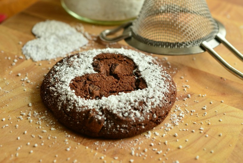 kaka med sockerhjärta