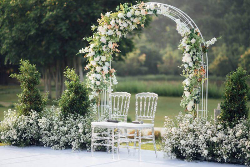 bröllop i naturen